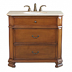 Bella 38 inch Bathroom Vanity Light Walnut Finish
