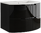 Anity 39 inch Modern Floating Bathroom Vanity Black Glossy Finish