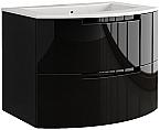 Anity 39 inch Modern Floating Bathroom Vanity Black Glossy Finish