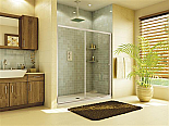 "Fleurco Banyo Amalfi 45 1/2""  to 47"" Frameless In Line Sliding Shower Door"