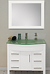 36 inch Contemporary White Single Sink Bathroom Vanity Set