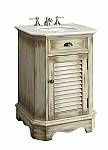 Adelina 24 inch Cottage Antique Finish Bathroom Vanity