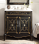 32 inch Adelina Cottage Hand Painted Bathroom Vanity