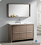 "Fresca Allier 47"" Bathroom Vanity Grey Oak Finish"