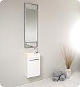 15 inch Small White Modern Bathroom Vanity