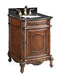 Adelina 24 inch Antique Bathroom Vanity Black Granite Top