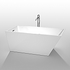 Hannah 59 inch White Soaking Bathtub Acrylic Construction