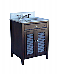 Adelina 26 inch Cottage Brown Bathroom Vanity