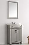 Fresca Hartford 24 inch Gray Finish Transitional Bathroom Vanity