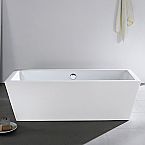 "Abana 65"" x 31"" White Rectangle Soaking Free-Standing Bathroom Tub"