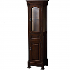 Ancora Traditional Linen Cabinet Dark Cherry Finish