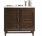 36 inch Single Sink Bathroom Vanity Burnished Mahogany Finish