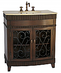 Adelina 32 inch Antique Bathroom Vanity Dark Espresso Finish