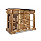 """48"""" Handcrafted Reclaimed Pine Solid Wood Single Bath Vanity Warm Natural Finish"""
