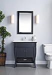 24 inch Bathroom Vanity Black Finish