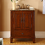 Accord Antique 28 inch Single Sink Bathroom Vanities