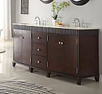 Adelina 72 inch Double Sink Bathroom Vanity Cream Marble Top