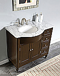Accord 38 inch Traditional Bathroom Vanity Espresso Finish