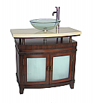 Adelina 36 inch Vessel Sink Bathroom Vanity Cherry Finish