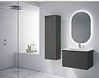 "48"" Heather Grey Finish Wall Mount Bath Vanity with Linen Cabinet Option Made in Spain"