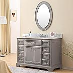 48 inch Traditional Bathroom Vanity Gray Finish