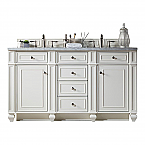 James Martin Bristol 72 inch Modern Traditional Double Sink Bathroom Vanity Cottage White finish, top optional