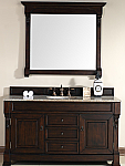 "James Martin Brookfield Collection 60"" Single Vanity, Burnished Mahogany"
