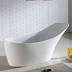 "Abana 67"" x 29"" White Oval Soaking Free-Standing Bathtub"