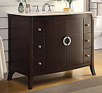 42 inch Adelina Contemporary Espresso Finish Bathroom Vanity
