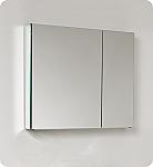 Contempo 30 inch Wide Bathroom Medicine Cabinet with Mirrors