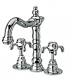 Widespread Lavatory Faucet with Cross Handles in Chrome