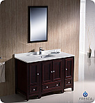 "Oxford 48"" Traditional Bathroom Vanity Mahogany Finish"