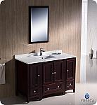 """Fresca Oxford 48"""" Traditional Bathroom Vanity Mahogany Finish"""