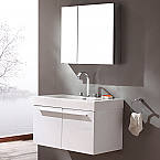 36 inch Wall Mounted White Modern Bathroom Vanity