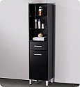 Espresso Bathroom Linen Cabinet 3 Open Shelves