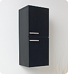 28 inch Black Bathroom Linen Side Cabinet