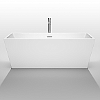 Sara 67 inch Acrylic White Soaking Bathtub