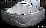 "EAGO 61"" Rounded Corner Waterfall Whirlpool Spa"