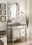 36 inch Adelina Mirrored Silver Bathroom Vanity & Mirror