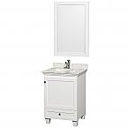 24 inch White Finish Bathroom Vanity Set