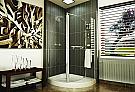 Fleurco Banyo Frameless Corner Shower Enclosure