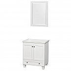Acclaim 30 inch Single Bathroom Vanity in White, No Countertop, No Sink
