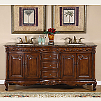 Silkroad Antique Double Sink Vanity HYP-8034-72-BB
