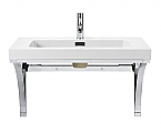 31.4 inch Wall Mounted Bathroom Vanity Console with Integral Bowl