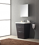 25 inch  Modern Bathroom Vanity Chestnut Finish