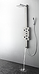 Art Lecco Stainless Steel (Brushed Silver) Thermostatic Shower Massage Panel