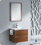 "Wenge 24"" Modern Bathroom Vanity 