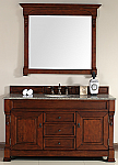 "James Martin Brookfield Collection 60"" Single Vanity, Warm Cherry"