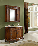 "48"" Deep Chestnut Finish Vanity with Matching Medicine Cabinet"
