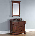 "James Martin Brookfield Collection 36"" Single Vanity with Drawers, Warm Cherry"